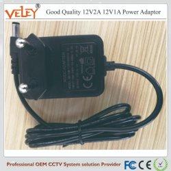 Bonne qualité d'un adaptateur 12V2a 12V1a pour caméra de vidéosurveillance