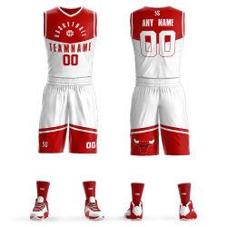 Uniforme su ordinazione all'ingrosso di pallacanestro di sublimazione degli abiti sportivi del pullover di pallacanestro