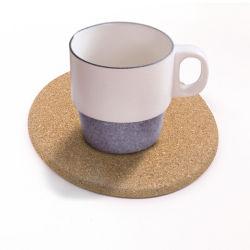 Vidro de proteção de calor impresso personalizado Cup Montanha Russa de mesa Tapete de cortiça