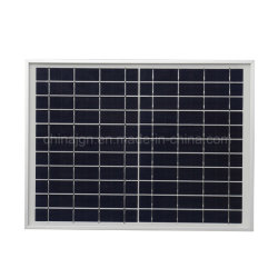 12W panel solar de silicio Poly-Crystalline Panel solar de cristal