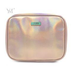 Imprimindo o holograma impermeável de couro de PVC Saco orgânicos cosméticos para viagens