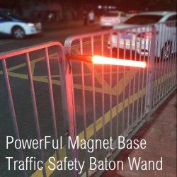 Baguettes de signalisation à LED rechargeables étanches de trafic trafic Baton Signal lumineux