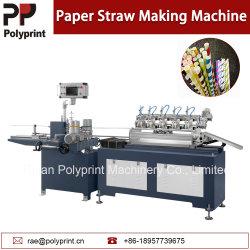Automatic Multi Hacheur de paille de papier coloré de boire de la glace de la machine verre pipette Tube Making Machine