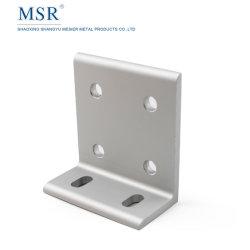 As vendas de 6 orifício conector CNC ranhurado 3060 para 60 Series Dois slots de extrusão de alumínio