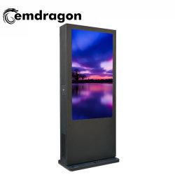 65인치 에어컨, 수직 스크린, 야외 광고 머신 PC 패널 인터넷 플로어 스탠딩 미디어 광고 화면을 터치합니다
