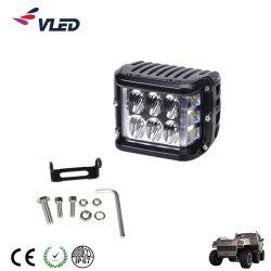 """12V 24V 4 """" 24W Dually Side Shooter Strobe Flash LED Work Cube Light Bar"""