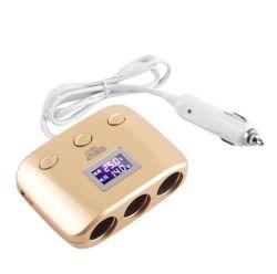 De Stop Dubbele USB van de Adapter van de Auto van de Contactdoos van de Aansteker van de auto