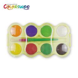 8 Цвет 4.0cm классический цвет воды пирог с щеткой для живописи и рисунка
