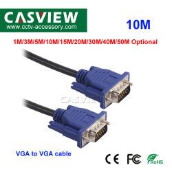 10m 남성 M/M VGA HD 이동 철사 영상에 파란 15pins VGA 선 남성