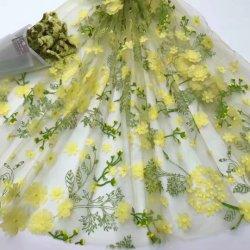 tessuto del merletto 3D per gli accessori dell'indumento