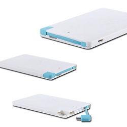 Caricatore ultra sottile portatile della Banca di potere del raccoglitore della carta di credito con cavo per la promozione 2500mAh