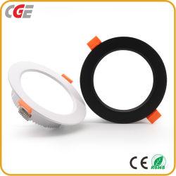 Preiswerter Fabrik-Preis CRI>80 9W verdünnen Aluminiuminnen vertieft für Innen-LED Downlight Lampe der Schlafzimmer-Küche-