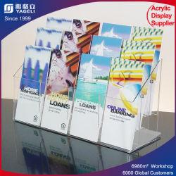 Freie Acrylsystem-Ausstellungsstand-Buch-Ausstellungsstand-Zeitschriften-Bildschirmanzeige