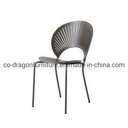 현대 작풍 금속 다리 가정 옥외 정원 가구를 위한 유일한 디자인을%s 가진 단단한 나무로 되는 거실 라운지용 의자