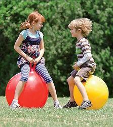 Almofada insuflável encaracolados PVC saltar a esfera do Funil com pega Skippy brinquedo para crianças