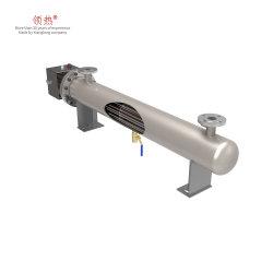 Flange de Alta Temperatura Explosion-Proof Imersão tubular em linha do processo de circulação com Painel de Controle do Aquecedor