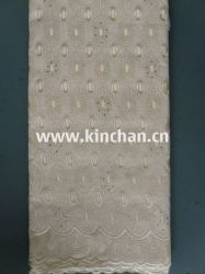 Mode tissus africains 100% coton swiss voile Lace (75043)