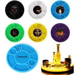 도매 LED 트레이 워터 파이프 흡연 액세서리 화려한 플라스틱 롤링 DAB 트레이 중국 공장 출하