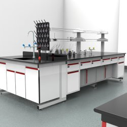 Usine prix bon marché de gros de produits chimiques de l'acier de l'hôpital Bio l'acier C-Fram Mobilier de laboratoire central avec évier/