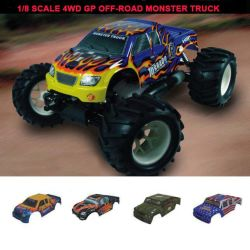 /8 Sccale 4WD Nitro Powered Off-Road Monster Truck (DF01251)