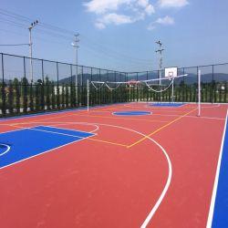Mercado de Oriente Medio Resistencia antideslizante golpes fuertes pisos de PVC para el exterior Baketball Voleibol Tenis Badminton cancha deportiva