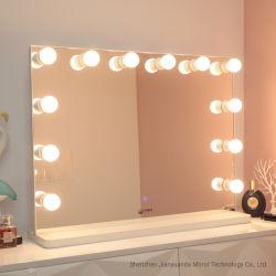 Specchio da tavolino di trucco di Hollywood 12PCS LED delle lampadine basse del MDF grande