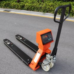 Magazzino movimentazione materiali pesatura elettronica di precisione idraulica Pallet Truck Martinetto carrello elevatore a forche