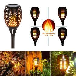 屋外用 LED ソーラーライト屋外用防水芝生ガーデンパティオトーチライト