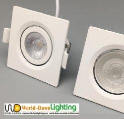 Weiße Decke PBT Punkt-Licht 38 des Grad-Scheinwerfer-kleines LED Quadrat vertieftes Downlight preiswertes justierbares LED Großhandelspreis-