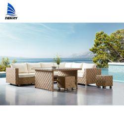 정원 소파 고정되는 Ikea 정원 가구 옥외 살아있는 안뜰 가구 판매 대나무 의자 등나무 소파
