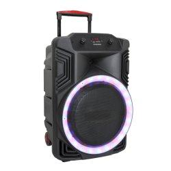 Feiyang 방수 USB DJ PA 이동할 수 있는 당 15 인치 빛 Bluetooth 휴대용 오디오 시끄러운 스피커