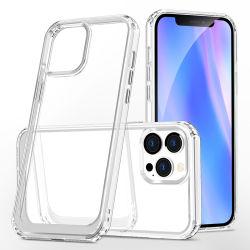 بالنسبة لهاتف iPhone 13 PRO Max Phone، يمكن استخدام الزوايا المرنة التي تمتص الصدمات غطاء شفاف للظهر الثابت مضاد للخدش