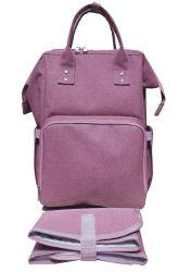 2020 Новые пользовательские моды дизайн розового цвета для использования вне помещений, вмещающему поездки для пикников и походов детского спорта Diaper Mommy рюкзак с левой подушки безопасности