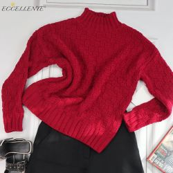 Maglione ispessito superiore allentato su ordinazione dell'abbonato del pullover di colore solido del maglione delle donne di autunno e di inverno di Eccellente