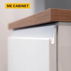 Manco moderna cocina de MDF pintura blanca Las puertas de armario de almacenamiento de fabricante de China