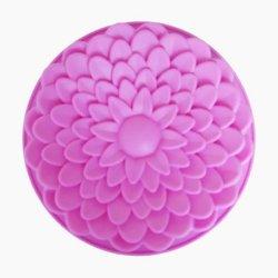 Moule à gâteau de fleur en silicone (GFC036)