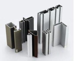 Châssis de porte de verre aluminium le matériau de couverture couleur personnalisée à revêtement poudré Profil en aluminium