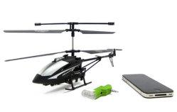 I-Helikopter van de Grootte van de Controle van iPhone de Infrarode 3CH Grote met (Zwarte) Gyroscoop