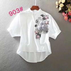 Form-Frauen-Hemd des Baumwollfeiertags-2020 oder der beiläufigen Freizeit-Art weißes