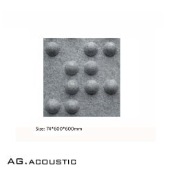 AG. ديكور المكتب الصوتي لوحة سقف ثلاثية الأبعاد من الألياف متعددة الأبعاد من البوليستر لتقليل الضوضاء