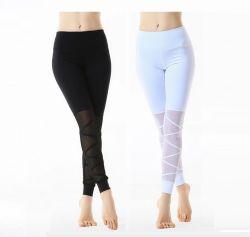Donna Lycra leggings Butt lifting Squatproof High vita allenamento Yoga Pantaloni con tasche 823