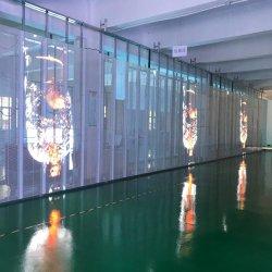 La publicidad comercial de la pared de vídeo LED P3.91-7.81mm de la pantalla de cristal transparente