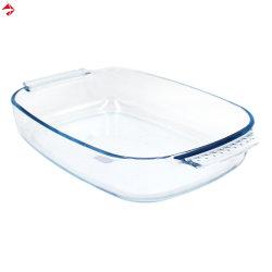 Dienblad van de Schotel van het Baksel van Bakeware van het Glas van de microgolf het Hittebestendige
