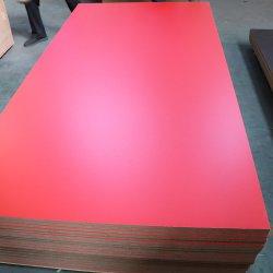 고품질 E1 접착제 18mm 광택 있는 멜라민에 의하여 박판으로 만들어지는 MDF