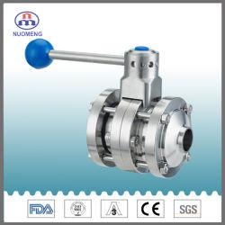 صمام فراشة يدوي ملحوم ثلاثي القطع من الفولاذ المقاوم للصدأ SS304/316L (ISO-No RD0116)