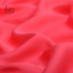 Double Georgette Mesdames robe de Haute Qualité d'épaisseur 22mm de gros de tissu de soie rouge