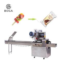 Verpakkende Machine van de Lollie van het Ijs van het Roomijs van de Stok van het Ijs van het roestvrij staal de Volledige Automatische
