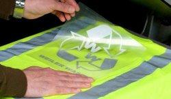 Transferencia de Calor gris de PVC para camisetas de hierro en vinilo Glitter