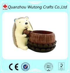 L'Artisanat de résine Custom hérisson animal pot de fleurs pour la décoration de jardin
