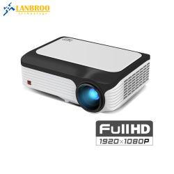 Китай светодиодный проектор HD дома на заводе 1080P Smart мобильный кинотеатр поддерживает беспроводную совместного использования экрана/HDMI/AV/USB с Android 7.1 операционной системы